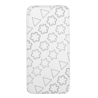 Koch Snowflakes iPhone 5 Pouch