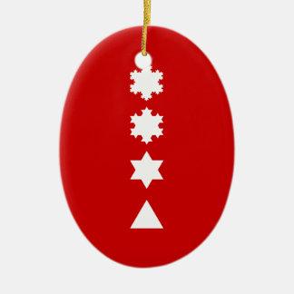 Koch Snowflakes Ceramic Ornament
