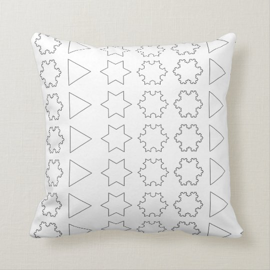 Koch Snowflakes Throw Pillow
