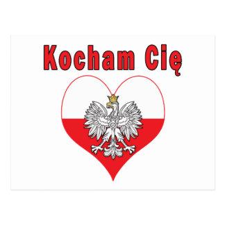 Kocham Cie Eagle Heart Postcard