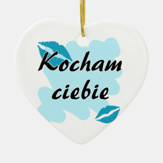 Kocham ciebie - Polish I love you Christmas Tree Ornament
