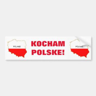 KOCHAM POLSKE! CAR BUMPER STICKER