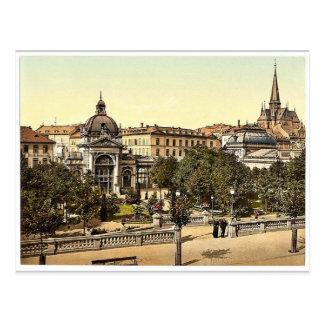 Kochbrunnen, magn de Wiesbaden, Hesse-Nassau, Tarjeta Postal