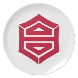 Kochi city flag Kochi prefecture japan symbol Melamine Plate