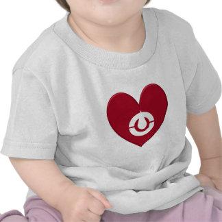 Kochi Prefecture Flag Heart T-shirts