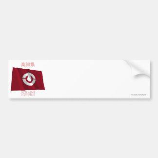 Kochi Prefecture Waving Flag Bumper Sticker
