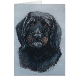 Koda la tarjeta de nota de oro del perro del Doodl