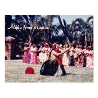 Kodak Hula Show Postcard