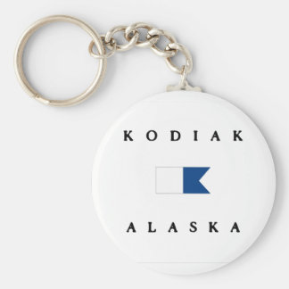 Kodiak Alaska Alpha Dive Flag Basic Round Button Keychain