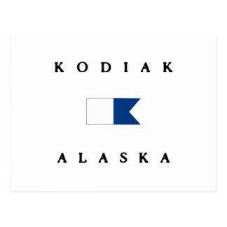 Kodiak Alaska Alpha Dive Flag Postcard