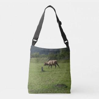Kodiak Alaska Bull Elk Horns Antler Photo Design Crossbody Bag