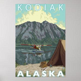 Kodiak, AlaskaBush Plane Fishing Poster