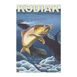 Kodiak, AlaskaCutthroat Trout Cross-Section Canvas Print