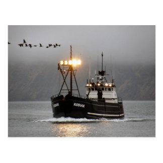 Kodiak, barco del cangrejo en el puerto holandés,  tarjeta postal