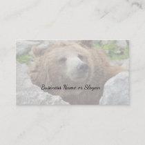 Kodiak bear business card