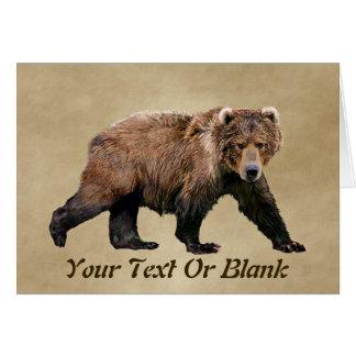 Kodiak Bear Card