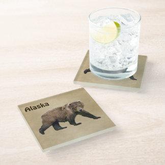 Kodiak Bear Glass Coaster