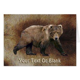 Kodiak Bear Greeting Card