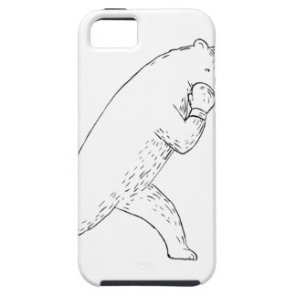 Kodiak Bear Left Straight Punch Drawing iPhone SE/5/5s Case