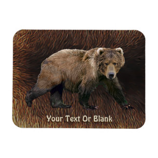 Kodiak Bear On Caribou Fur Magnet