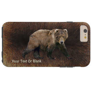 Kodiak Bear On Caribou Fur Tough iPhone 6 Plus Case