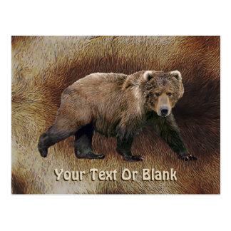 Kodiak Bear On Caribou (Reindeer) Fur Postcard