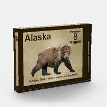 Kodiak Bear Photo Block