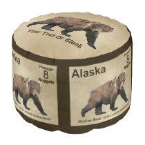 Kodiak Bear Pouf