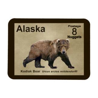 Kodiak Bear Rectangular Photo Magnet