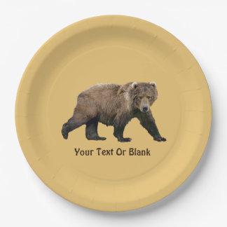 Kodiak Bear 9 Inch Paper Plate