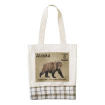 Kodiak Bear Zazzle HEART Tote Bag