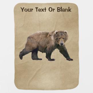 Kodiak Bear Receiving Blanket