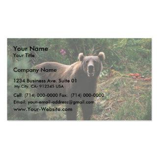 Kodiak Brown Bear Business Card Template