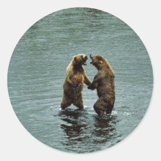 Kodiak brown bear sticker