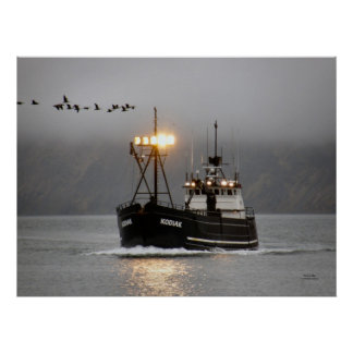 Kodiak Crab Boat in Dutch Harbor Alaska Print