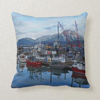 Kodiak Harbor Throw Pillow