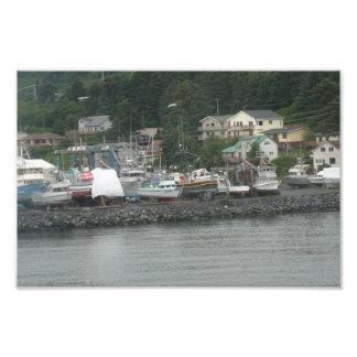 Kodiak Island Fishing Boats Print Art Photo