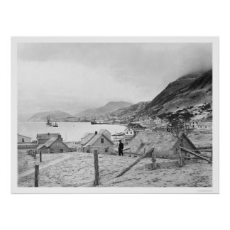 Kodiak, panorama 1909 de Alaska Impresiones