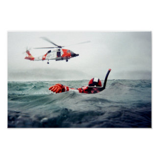 Kodiak Rescue Swimmer - Coast Guard Poster