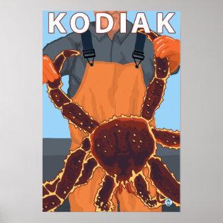 Kodiak, rey cangrejo de AlaskaAlaskan Impresiones