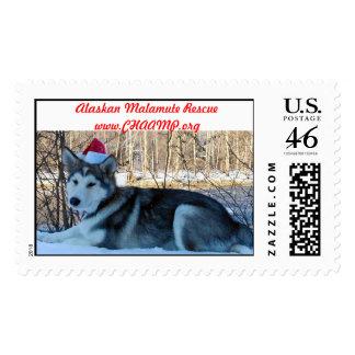 Kodiak santa postage stamps