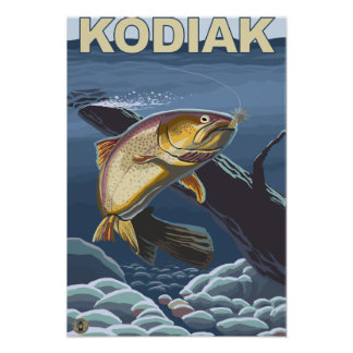 Kodiak, sección representativa de la trucha de Ala Poster