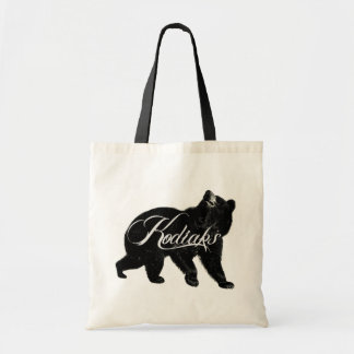 Kodiaks Logo Bear Tote Bags