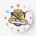 Kody O'Bear Wall Clock