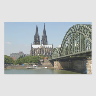 Koeln (Cologne) in Germany Rectangular Sticker