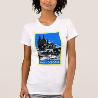 Koeln Cologne retro vintage style travel ad T-shirt