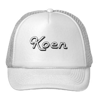 Koen Classic Retro Name Design Trucker Hat