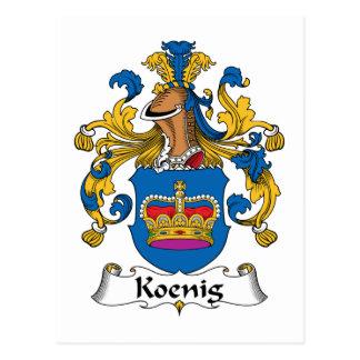 Koenig Family Crest Postcard