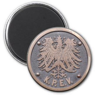 Koeniglich Preussische Eisenbahn-Verwaltung 2 Inch Round Magnet