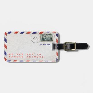 Kofferanhänger Airmail Envelope Vintage Etiquetas Bolsa